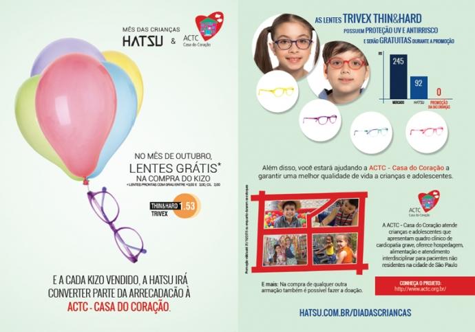 Para tornar o mês das crianças mais solidário e inclusivo, a Hatsu, marca  brasileira de armações desenvolvidas com tecnologia japonesa, inicia a  campanha em ... 1a856d0cce